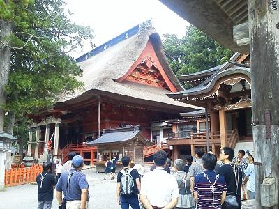 出羽三山神社にて